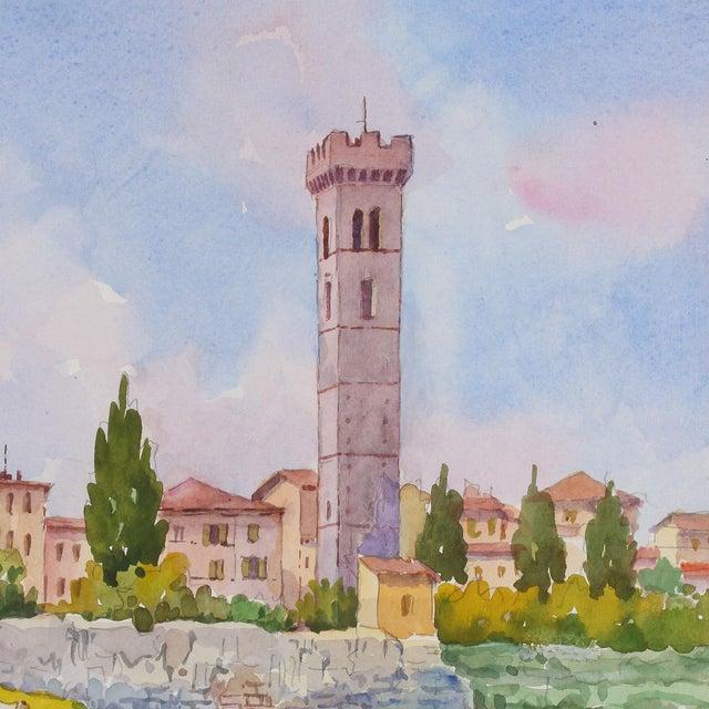 Italian Vintage Italian Watercolor of Fiesole For Sale - Image 3 of 8