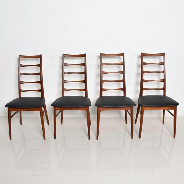 Set of 4 Danish Modern Teak Ladder Back Niels Koefoeds Dining Chairs Hornslet For Sale - Image 11 of 11