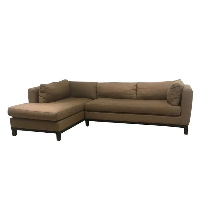 Crate & Barrel Sectional Sofa For Sale - Image 11 of 11