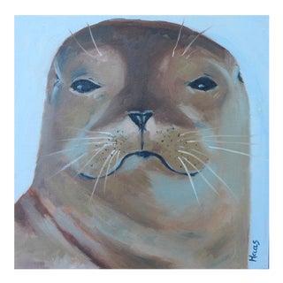 "California Sea Lion ""A Little Attitude"" Oil Painting For Sale"