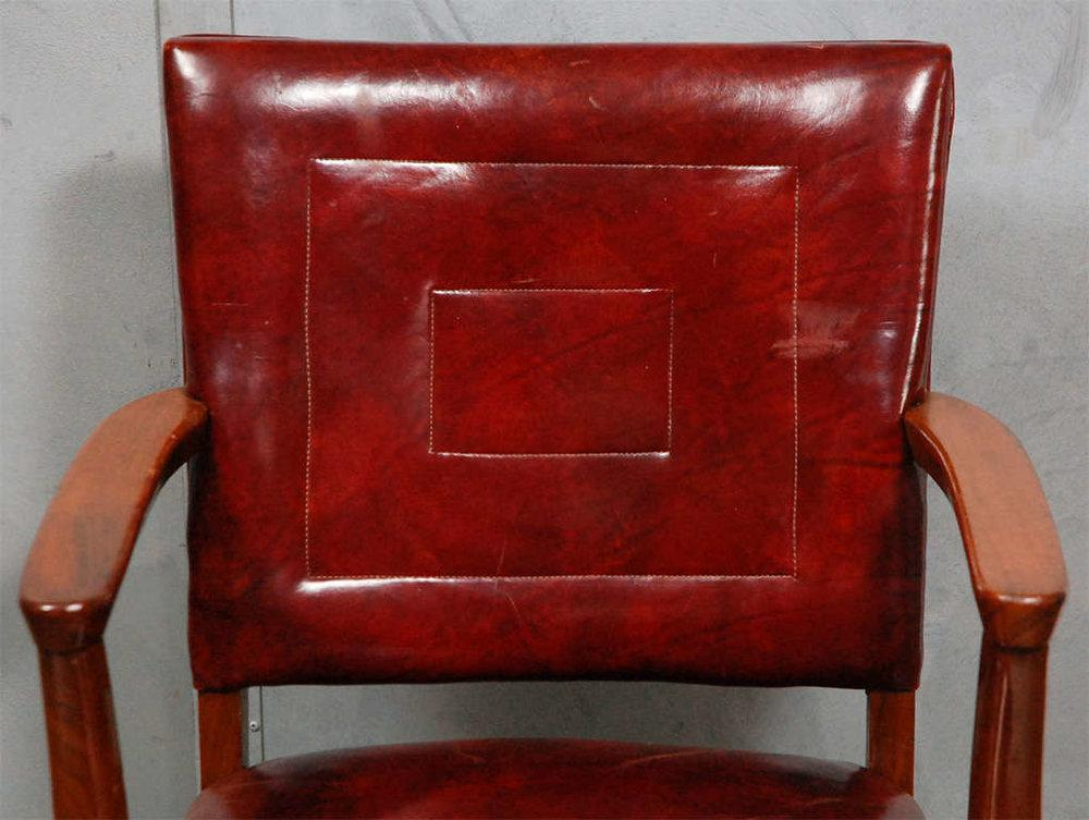 Red Antique Bankers Chairs   A Pair For Sale   Image 8 Of 8