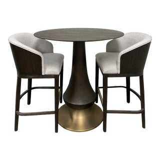 Hooker Furniture Dining Room Curata Pub Table + Two Barstools Set For Sale
