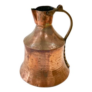 Hammered Copper Pitcher For Sale