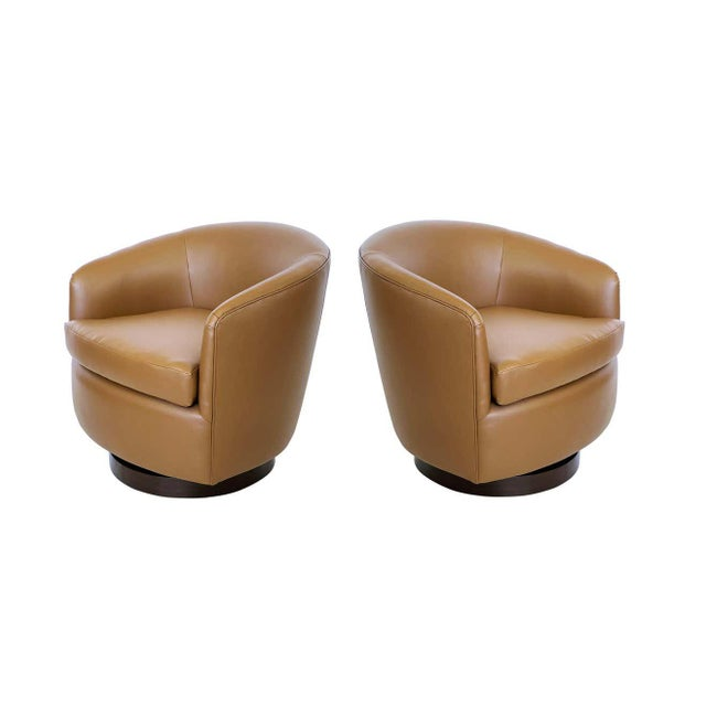 Milo Baughman for Thayer Coggin Tilt & Swivel Lounge Chairs - A Pair For Sale In Dallas - Image 6 of 8