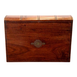 """19th Century Antique """"Captain Hardcastle"""" Locking Note Book Box"""