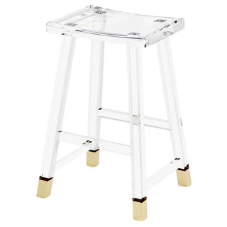 Reva Counter Stool - Brass For Sale