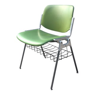 1960s Piretti for Castelli Dsc 106 Chairs in Green - a Pair For Sale