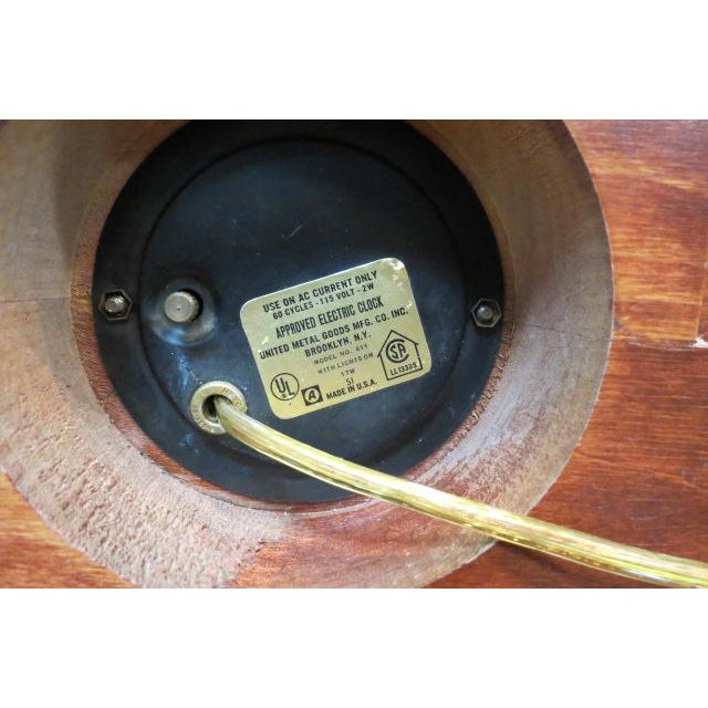1960 Vintage Mid Century Modern Sailing Ship Clock and Light For Sale In Chicago - Image 6 of 7