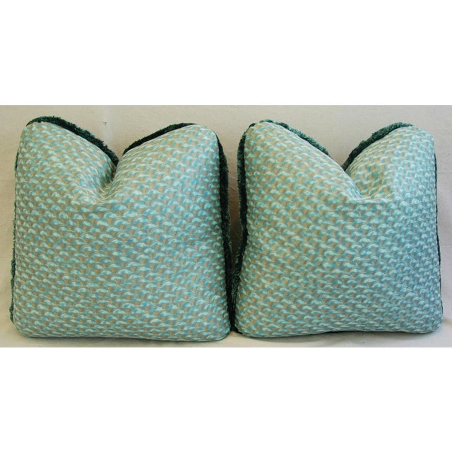 Designer Italian Mariano Fortuny Papiro Feather/Down Pillows - a Pair For Sale In Los Angeles - Image 6 of 11