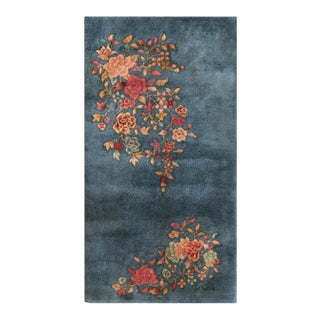 """Antique Chinese, Art Deco Rug 2'2"""" X 3'10"""" For Sale"""