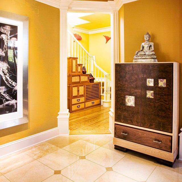 "Adeeni Design Atelier ""Window"" Burl Wood Cabinet For Sale - Image 4 of 6"