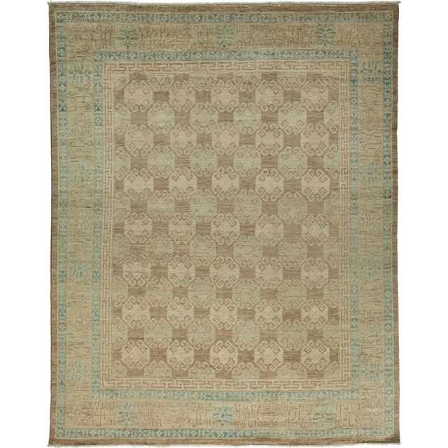 """Khotan Hand-Knotted Rug - 7' 10"""" X 10' 1"""" - Image 1 of 2"""