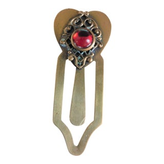 Vintage Heart Bookmark For Sale