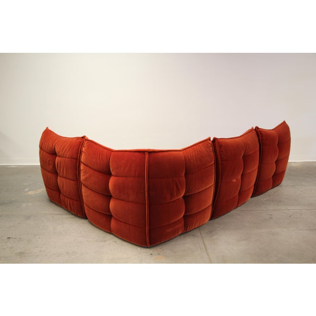 1970s 1970s French Modular Mohair Sofa For Sale - Image 5 of 13