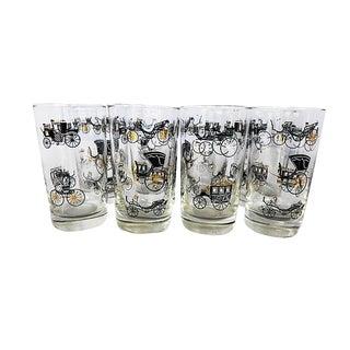 Antique Auto Juice Glasses - Set of 8 For Sale