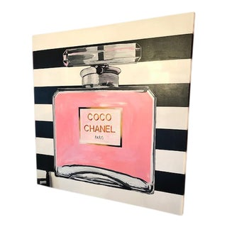 "Original ""Coco Chanel Bottle"" Acrylic Painting For Sale"