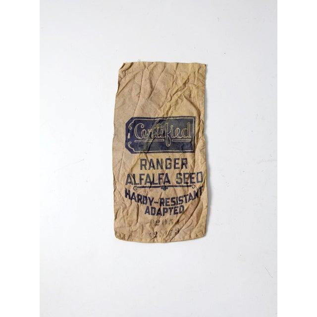 Vintage Seed Sack Bag For Sale - Image 5 of 6
