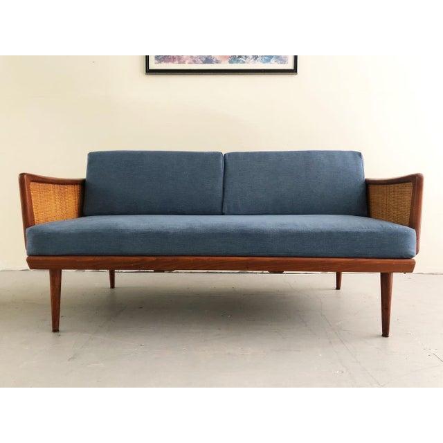 Mid Century Modern Peter Hvidt & Orla Mølgaard Nielsen Teak & Cane Sofa Set- 2 Pieces For Sale In New York - Image 6 of 10