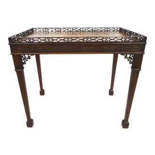 19th Century Chippendale Mahogany Rectangular Tea Table For Sale