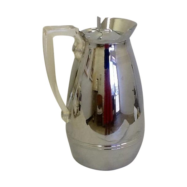 Mid-Century Thermos Silver Color & Lucite Caraffe - Image 1 of 7