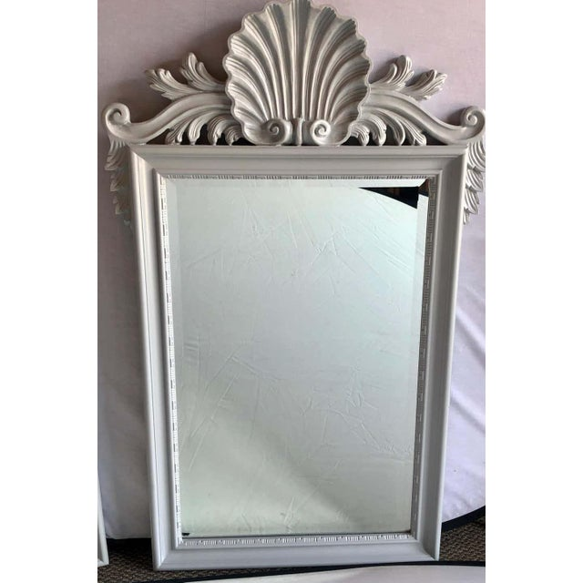 Hollywood Regency Labarge Wall or Console Mirrors, Italian - a Pair For Sale - Image 11 of 13