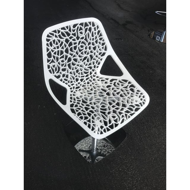 Casprini White Dining Chairs - Set of 8 For Sale - Image 10 of 11