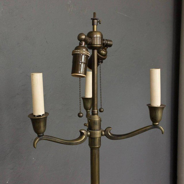 French 1940s French Brass Floor Lamp For Sale - Image 3 of 10