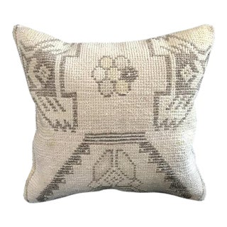 Bohemian Floral Organic Wool Pillow Cover For Sale