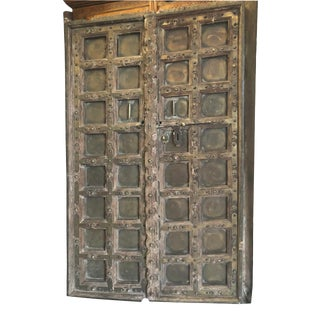 Farmhouse Antique India Door Rustic Patina Teak Door For Sale