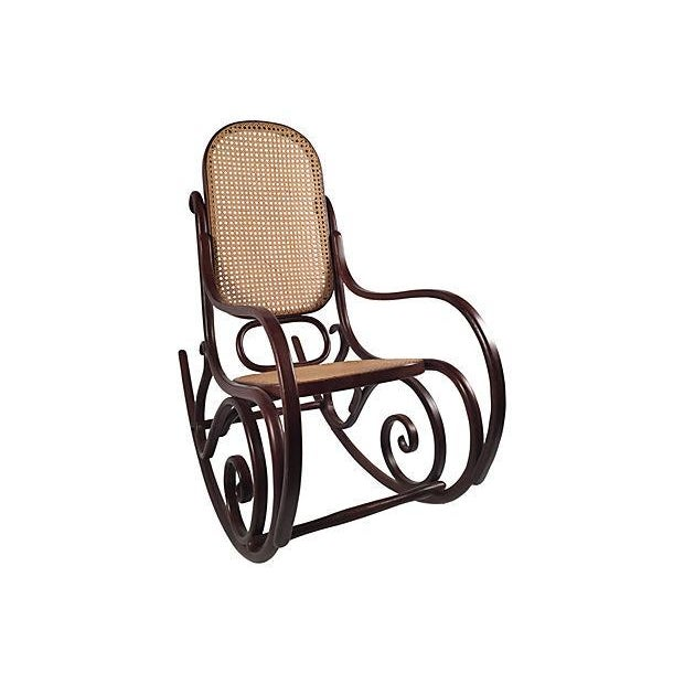 Thonet Attri. Caned Bentwood Rocking Chair - Image 4 of 7