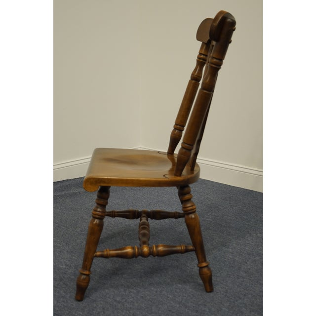 Temple Stuart Solid Hard Rock Maple Colonial Style Splat Back Dining Side Chair 814 For Sale In Kansas City - Image 6 of 11
