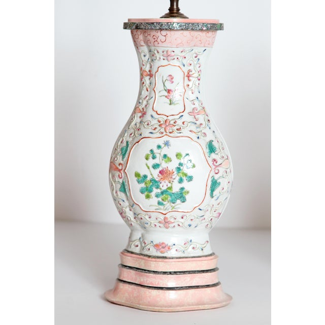 Pair of Late 18th Century Chinese Porcelain Vases as Lamps For Sale In Dallas - Image 6 of 13