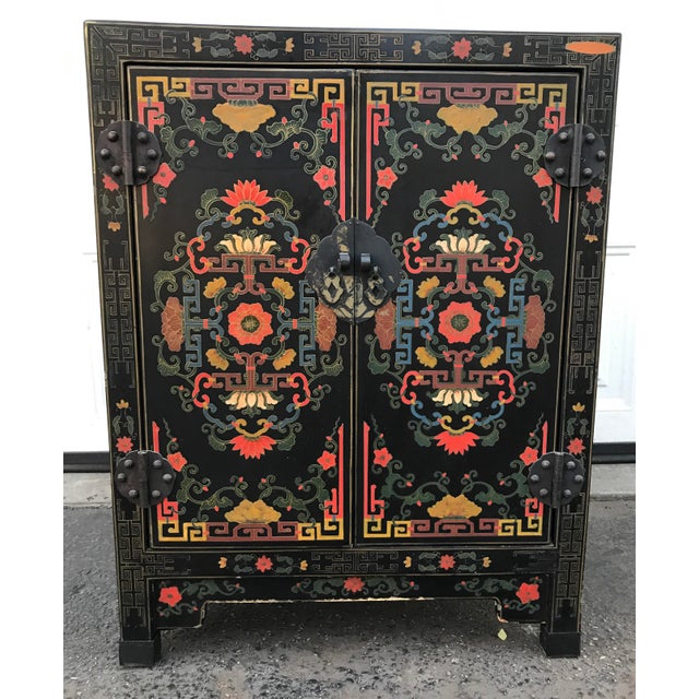 Hand Painted Chinoiserie Cabinet For Sale - Image 10 of 10