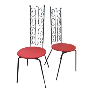 1970s Mid Century ModernArthur Umanoff Indoor/Outdoor Iron Chairs - a Pair For Sale