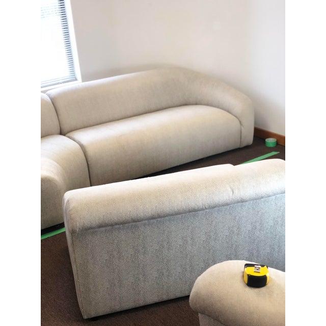 Gray 1990s Vintage Vladimir Kagan Curved Sectional Sofa For Sale - Image 8 of 13