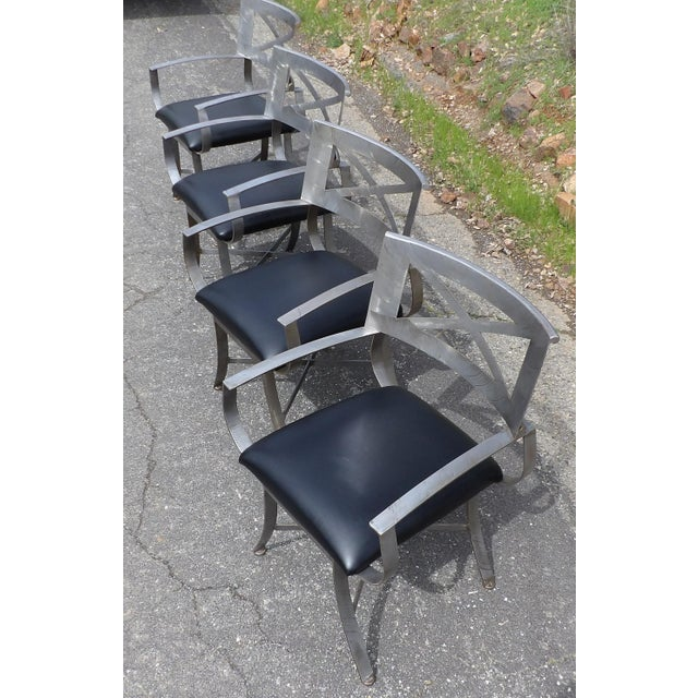 "Mid 20th Century Vintage Mid Century Arthur Umanoff for Shaver Howard ""X"" Chairs- Set of 4 For Sale - Image 5 of 13"