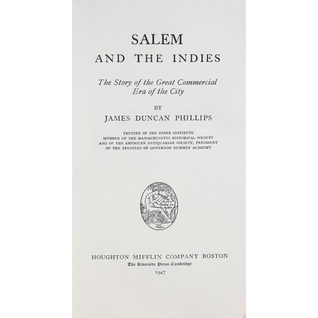 """Booth & Williams 1947 """"Signed Limited Edition, Salem and the Indies"""" Coffee Table Book For Sale - Image 4 of 6"""