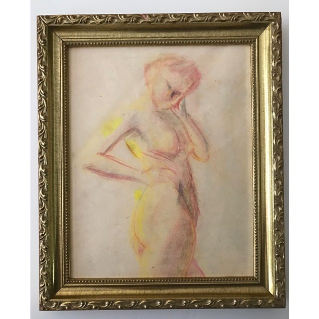 1950s Vintage Pastel Drawing Study of a Nude - Image 2 of 5