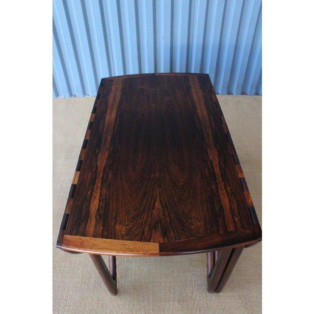 Rosewood Mid Century Niels Koefoed Rosewood Gate Leg Dining Table, Denmark, 1960s For Sale - Image 7 of 12