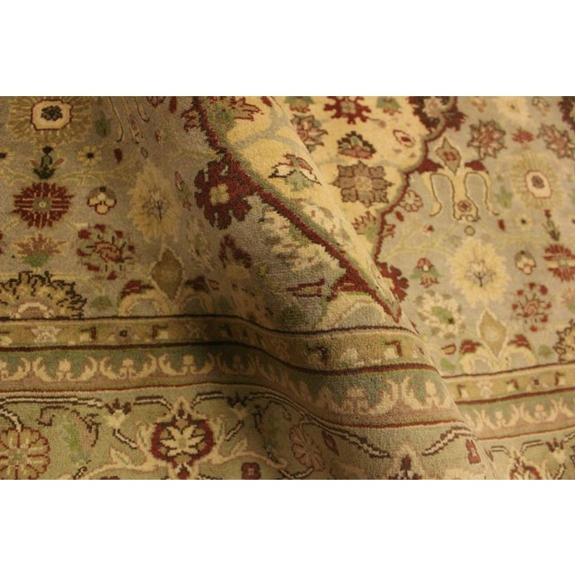 Tabriz Pak-Persian Loren Ivory/Lt. Green Wool Rug - 4'8 X 7'1 For Sale - Image 4 of 8
