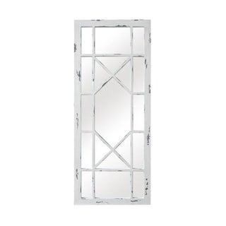 Jardin Geometric Wood Pane Mirror For Sale