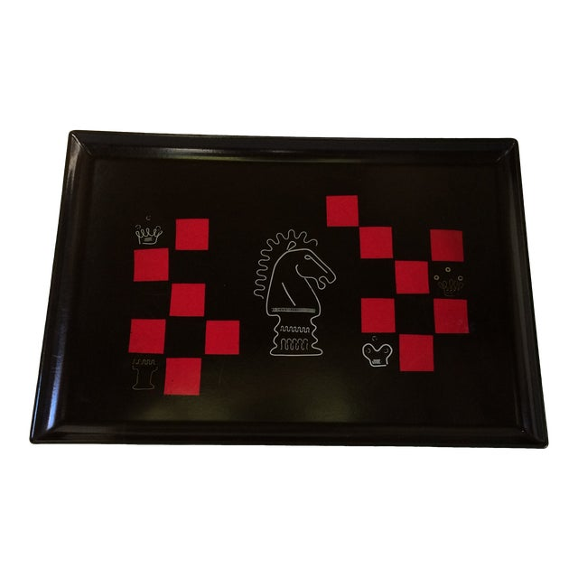 Couroc of Monterey Chess Serving Tray For Sale