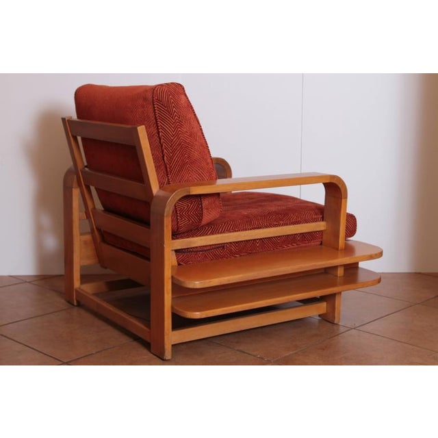 Art Deco Art Deco Machine Age Russel Wright Conant Ball Asymmetric Lounge Chair For Sale - Image 3 of 11