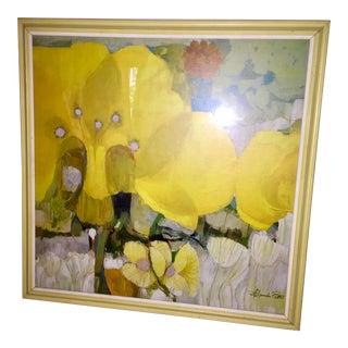 Vintage Floral Print by Alexander Ross For Sale