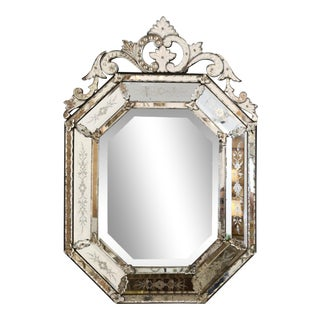 Octagonal Venetian Mirror For Sale