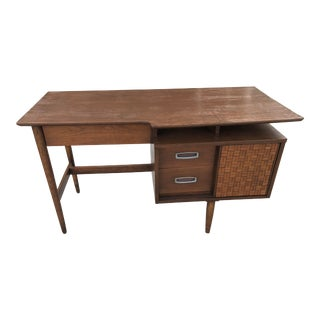 1950s Mid-Century Modern American Walnut Floating Top Desk For Sale