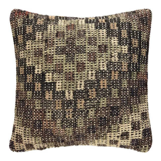 """ReClaimed Earth Tone Kilim Pillow 