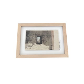 Barcelona Photograph on Textured Paper in Frame For Sale