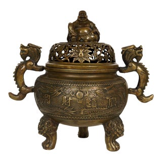 20th Century Chinese Ming Style Bronze Incense Burner For Sale