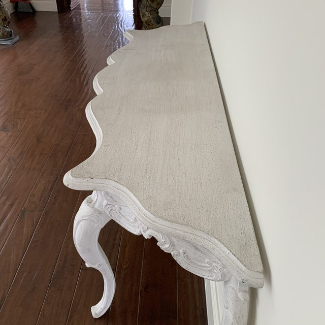 Noir White Wash Console Table For Sale - Image 4 of 9
